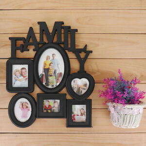 Details About Family Wall Hanging Collage Photo Frame Picture Display Wedding Decor Gift