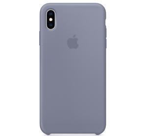 Echt-Original-Apple-iPhone-XS-Silikon-Huelle-Silicone-Case-Lavendelgrau