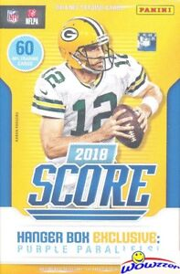 2018 Score Football HUGE EXCLUSIVE Factory Sealed 60 Card HANGER Box! Loaded!