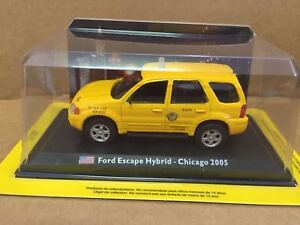 DIE-CAST-034-FORD-ESCAPE-HYBRID-CHICAGO-2005-034-1-43-TAXI-COLLECTION-SCALA-1-43