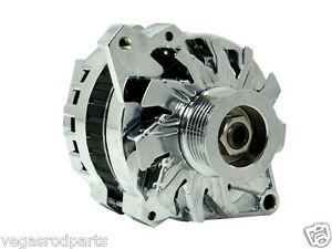 110 amp chrome alternator gm chevy chevrolet single one wire chevy 1 serpentine ebay