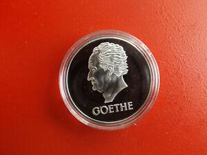 *weimarer Rep. 5 Reichsmark 1932 Goethe*silbermedaille 2013 Pp*ca.32,5mm(box2