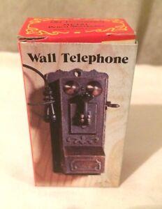 Vintage Miniature Metal Diecast Pencil Sharpener Wall Telephone NEW