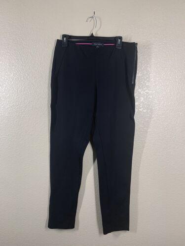 Pink Tartan Black Ponte Knit Pants Size 8 Split He