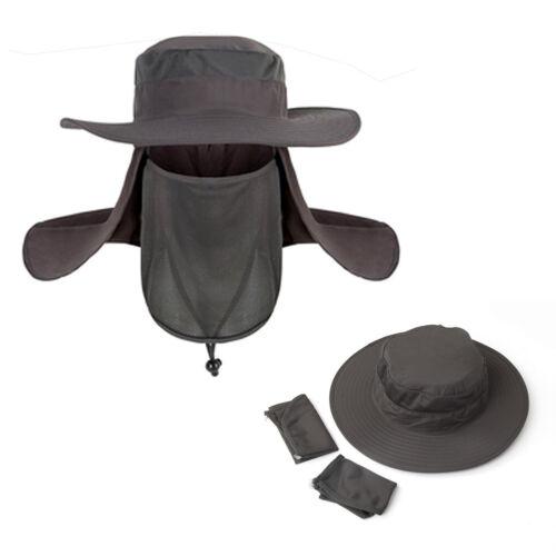 Mens Hiking Fishing Hat Outdoor Sport Sun Neck Face Cap Wide Brim