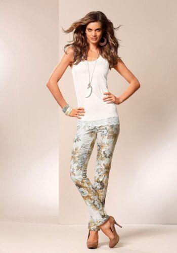 Laura Scott Svolta-Stretch-stampa-JEANS NUOVO!! COLORATO Lang-Tg Pantaloni SALE/%/%/%
