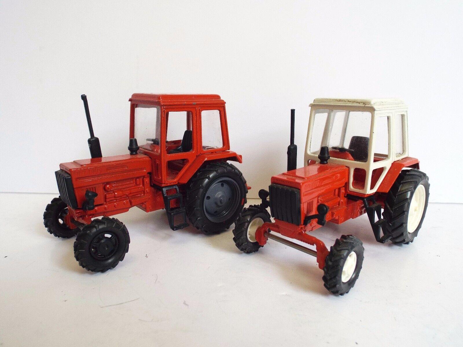 Une paire de rares concessionnaires Belarus Tracteur 1 43 URSS PROMO's Loose ect (BS1939)