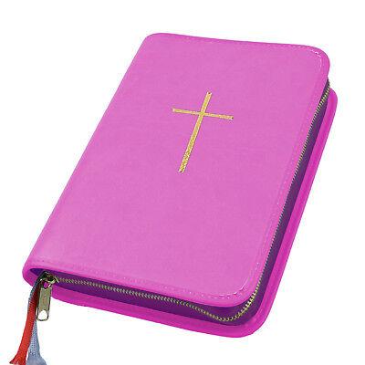 Bücherzubehör Großdruck Gotteslob Hülle Gotteslobhülle Leder Pink Rosa Mit Kreuz In Gold Buchhülle
