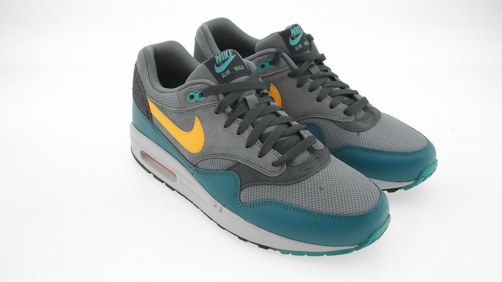 537383-018 Nike Men Air Max 1 Essential / (gray / cool gray / Essential laser orange / ctln) d29865