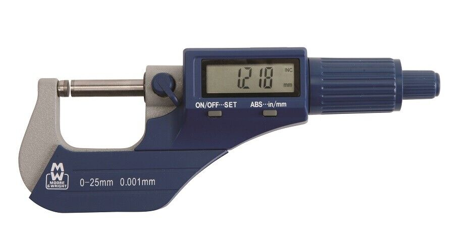 Moore And Wright 0-25mm 0-2,5 cm Mw200-01dbl Digital- Außen- Mikrometer