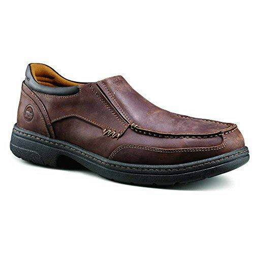 7febada8549 Timberland Pro Mens Branston MOC Toe Slip-on Work Shoe Brown Distressed  10.5 M