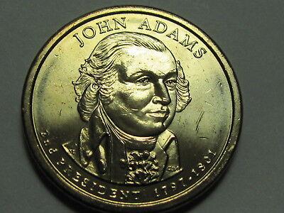 2007 D John Adams $1 Presidential Golden Dollar Coin