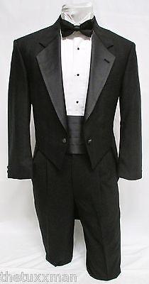 48 S Karl Lagerfeld Mens Black Full Dress Tuxedo Tailcoat Tux Tails Coat Wedding