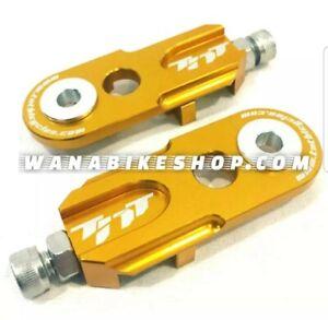 PAIR SPEEDLINE BMX 15MM CHAIN TENSIONER GOLD