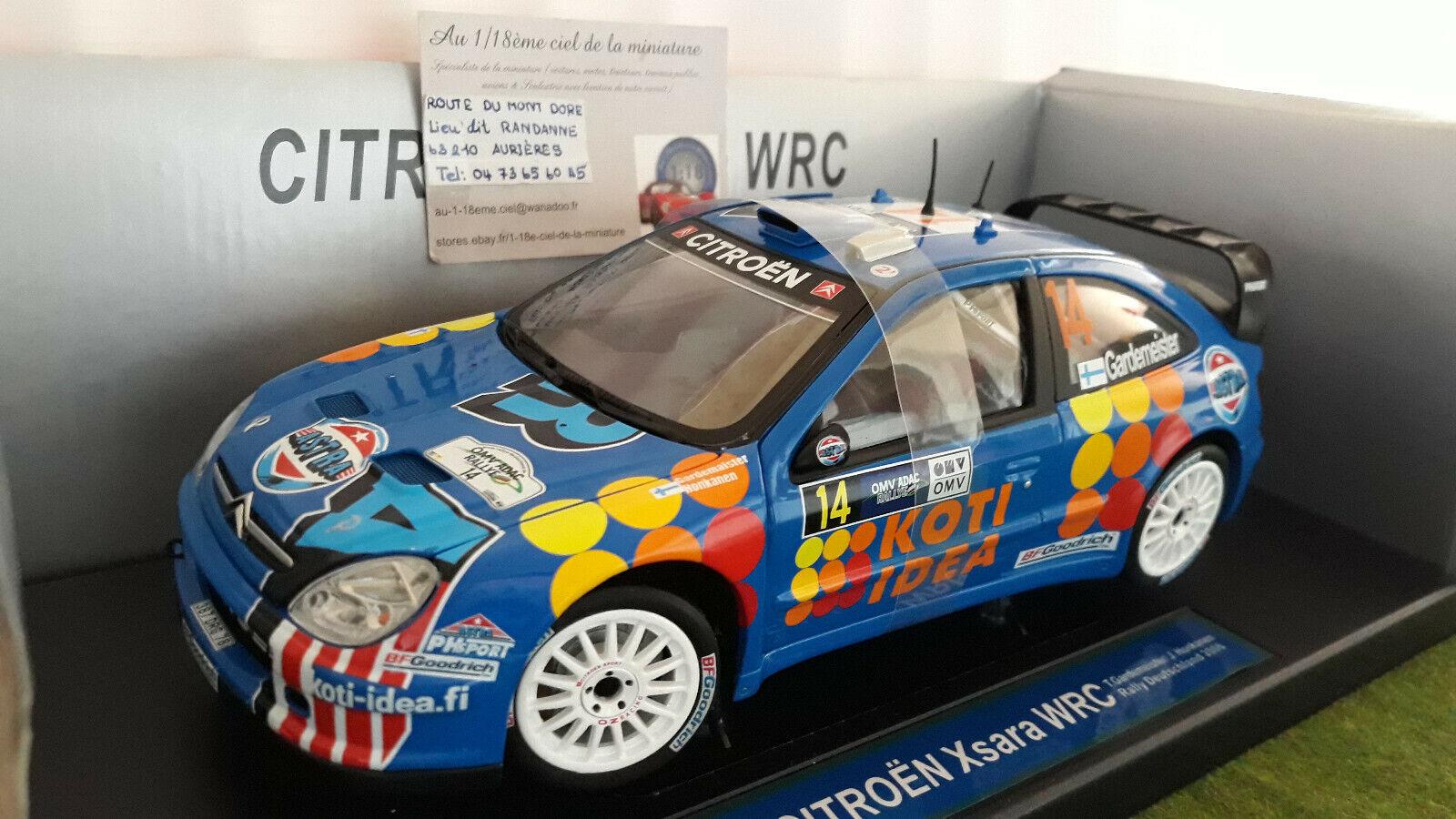 auténtico CITROËN XSARA WRC 2006 2006 2006 G RALLYE DEUTSCHLAND 1 18 SUN Estrella 4428 voiture miniature  Con 100% de calidad y servicio de% 100.