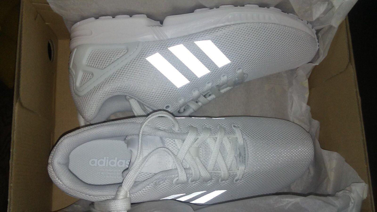 Adidas originali del bianco / 3 strisce 10 riflettenti Uomo scarpe taglia 10 strisce a771e1