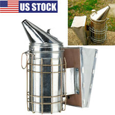Durable Bee Hive Smoker Supplies With Heat Shield Beekeeping Equipment Silver Us