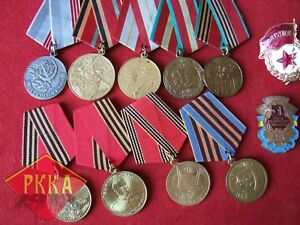 11x-gran-coleccion-medalla-sovieticas-Lenin-Ejercito-Rojo-comunismo-orden-URSS