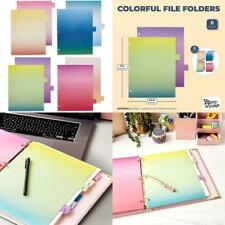 8 Pack Page Dividers For 3 Ring Binder 8 Cut Tabs Ombre Watercolors Letter S