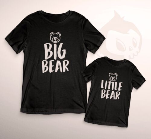 Big /& Little Bear Duo T-Shirts Mum Dad Son Daughter Novelty Funny Kids Gift