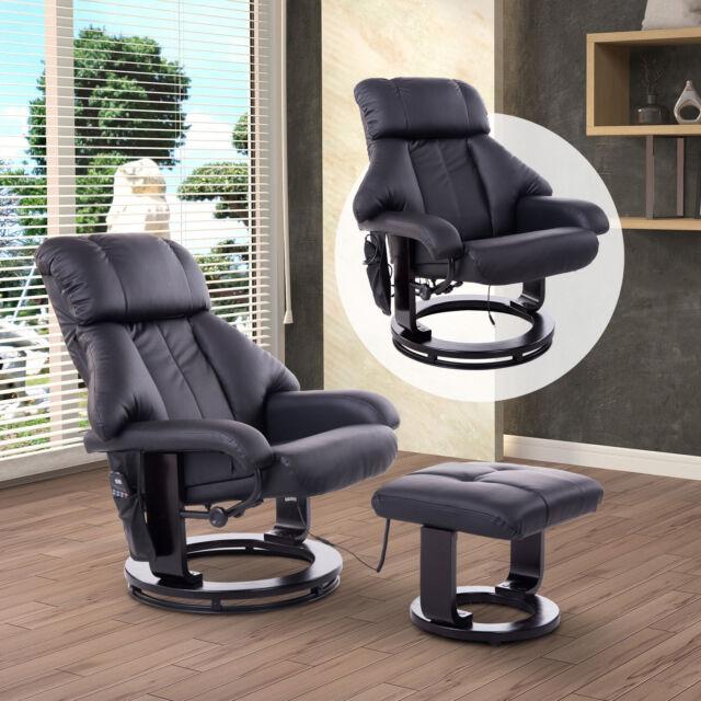 Massagesessel inkl. Hocker Fernsehsessel Relaxsessel mit Wärmefunktion drehbar