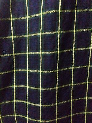 8 Yd (ca. 7.32 M) Scottish Highland Uomo Tradizionali Per Kilt In Cucita Pieghe Top Quality-