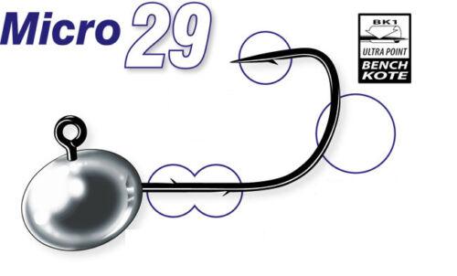 0,8-5,5g jig heads 3pcs per pack leurres Mustad Micro 29
