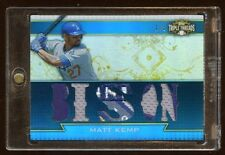 MATT KEMP 2011 TRIPLE THREADS JUMBO PATCHES LOGO #D 1/3  1/1  DODGERS SUPERSTAR