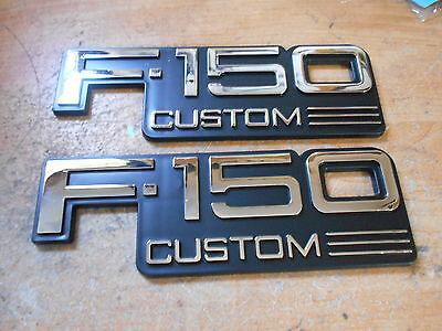 1992 1993 1994 1995 1996 FORD F-150 F150 CUSTOM FRONT FENDER EMBLEMS PAIR F2TZ