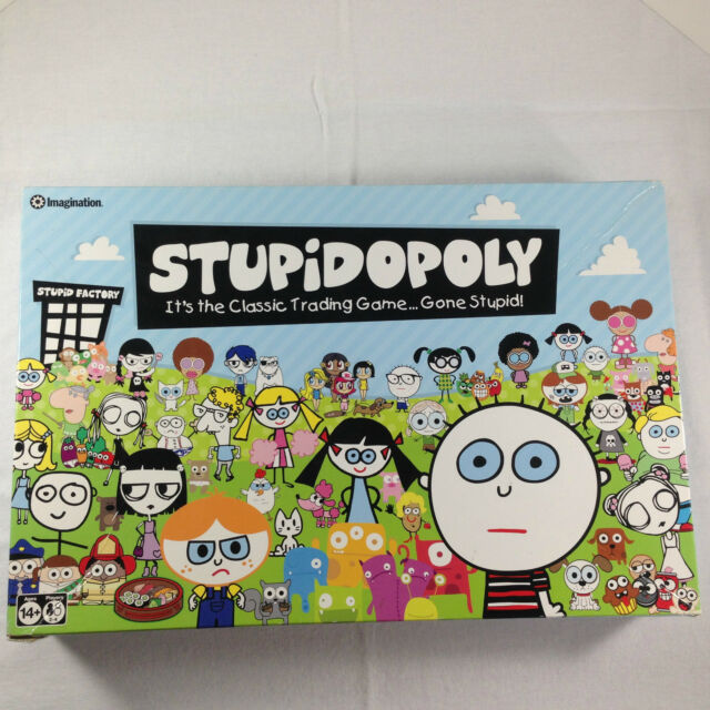 IMAGINATION STUPIDOPOLY CLASSIC TRADING BOARD GAME GONE STUPID FACTORIES FUNNY