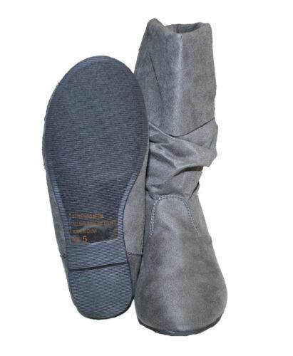 Round Toe Flat Heel Style# APO-MEDIA Flat Boots Women Faux Suede Flat Slouch