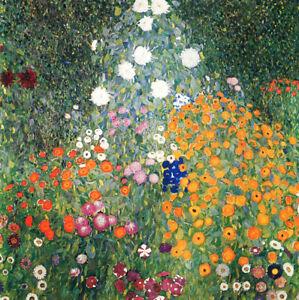 Flower-Garden-by-Gustav-Klimt-Handmade-Oil-Painting-Reproduction-32-034-x-32-034