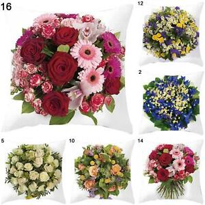Am-45cmx45cm-Rose-Flower-Bouquet-Home-Office-Decorative-Cushion-Cover-Pillow-Ca