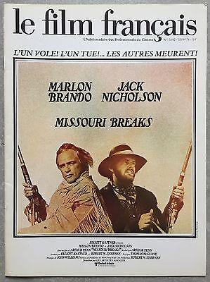 Magazine LE FILM FRANCAIS Jack Nicholson MISSOURI BREAKS Marlon Brando 1976 *