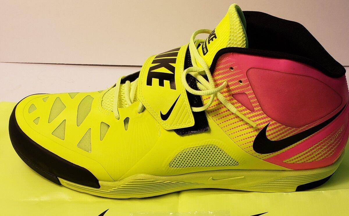 NEW Nike Zoom JAVELIN Elite 2 Track Filed Spikes Size 15 Volt Pink 631055-999