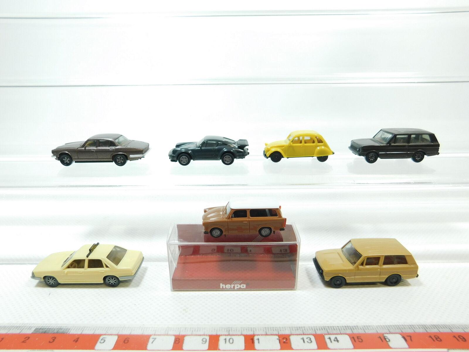 Bh68-0,5 x HERPA H0 1 87 AUTOVETTURA  RANGE ROVER + Trabant + AUDI + JAGUAR+