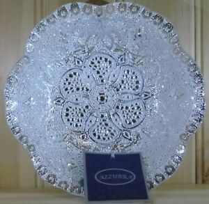 Pair-of-Azzurra-Handmade-Decorated-Glass-Dish-100-Silver-Gilt-Made-in-Turkey