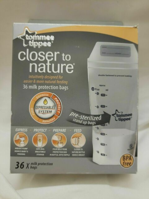 36-Count Tommee Tippee Breast Milk Storage Bags