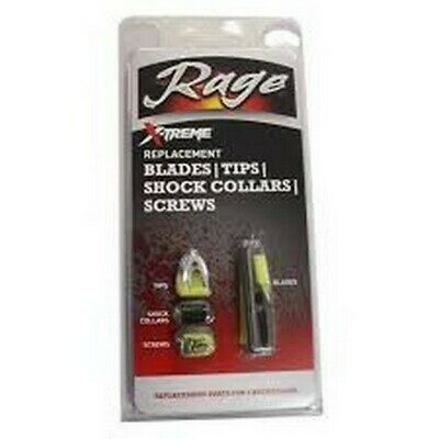 RAGE  X-TREME Universal Replacement Blades//Tips//Shock Collars//Screws Set of 3