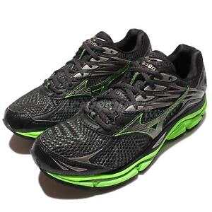 Mizuno-Wave-Enigma-6-VI-Black-Green-Mens-Running-Trainers-Sneakers-J1GC16-1152
