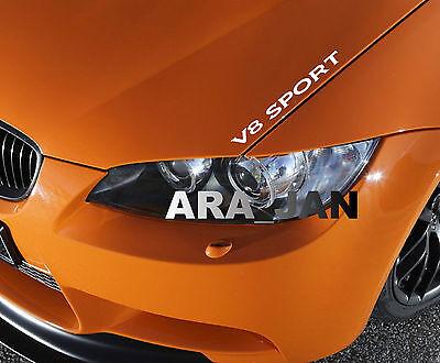 Racing Edition Decal Sticker sport speed car hood logo emblem sticker WHITE