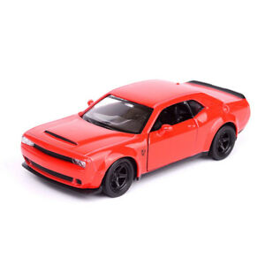 Dodge-Challenger-SRT-Demon-1-36-Scale-Car-Model-Diecast-Gift-Toy-Vehicle-Red-Kid