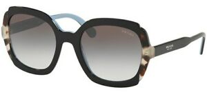PRADA-16US-54-KHR0A7-SUNGLASSES-BLACK-SPOTTED-BROWN-OCCHIALE-SOLE-WOMAN