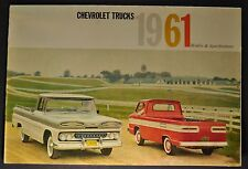 1961 Chevrolet Truck Brochure Pickup Suburban Panel Corvair 95 Tilt Cab COE 61