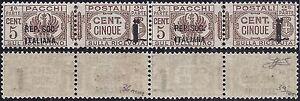 R-S-I-PACCHI-1944-5-Cent-n-36-36a-COPPIA-VARIETA-039-LUSSO-Cert-FERRARIO-285