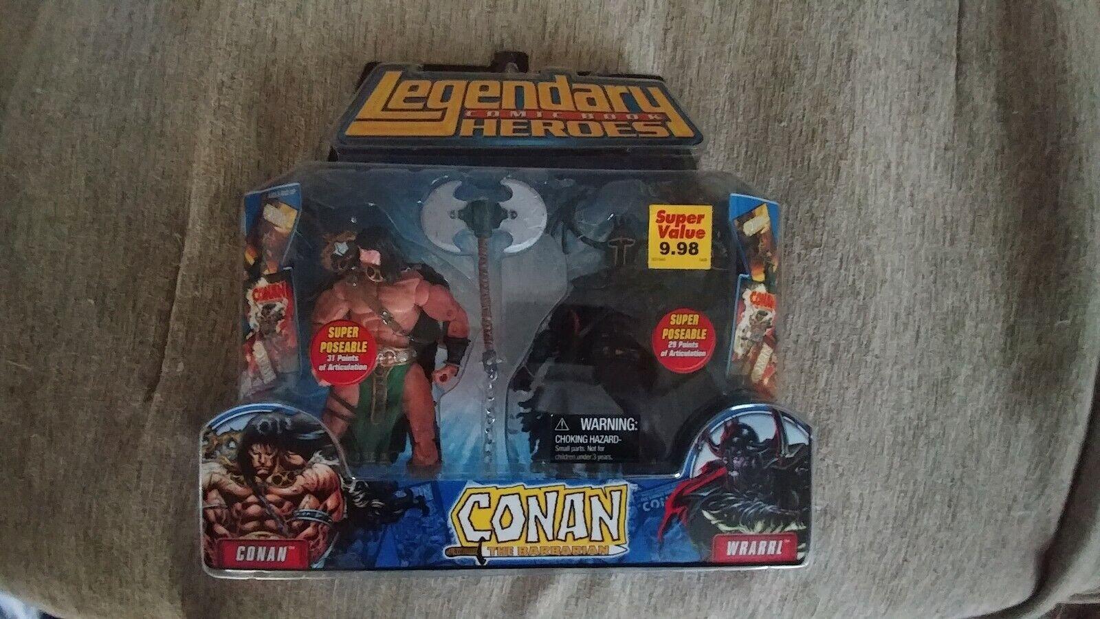 Legendarios héroes de cómic Conan el Bárbaro y WRARRL 2 Pack