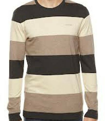 Black Heather S1647542-03 M Nixon Cascade Long Sleeve Tee T-Shirt