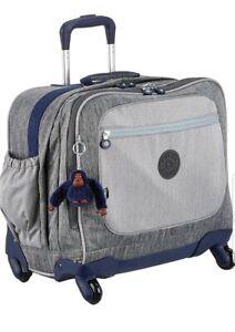 Kipling-Manary-Ash-Denim-Spinner-luggage-trolley-cabin-school-laptop-bag-Rrp-174