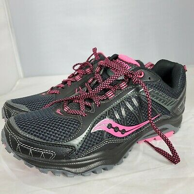 Saucony Woman's Excursion TR9 Running Shoe S15259 15 Black Pink size 8 Wide