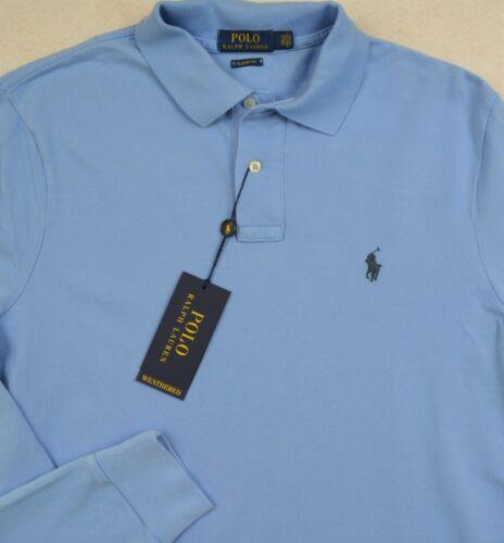 Polo Ralph Lauren Weathered Mesh Harbor Blue Long Sleeve Shirt S /& M NWT